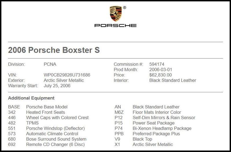 2006 Porsche Boxster S in Carrollton, TX