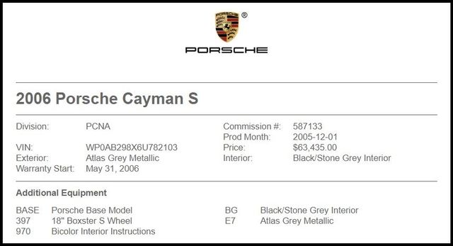 2006 Porsche Cayman in Carrollton TX