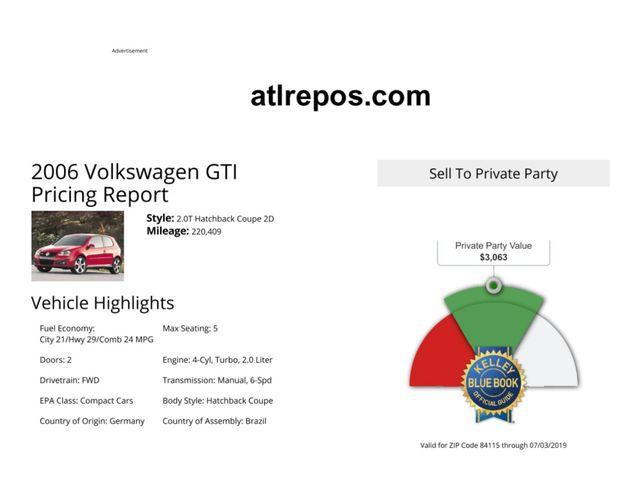 2006 Volkswagen New GTI Salt Lake City, UT