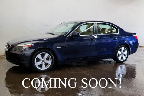 2007 BMW 525xi xDrive AWD Luxury Sedan w/Heated Seats, Navigation, Bluetooth Phone & Power Moonroof in Eau Claire