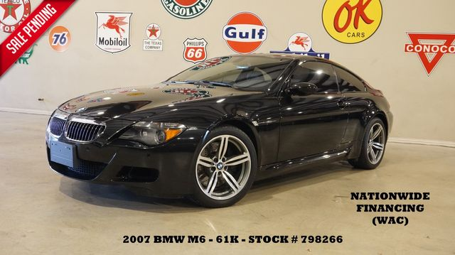 2007 BMW M6 Coupe SMG,HUD,CARBON ROOF,NAV,HTD LTH,61K
