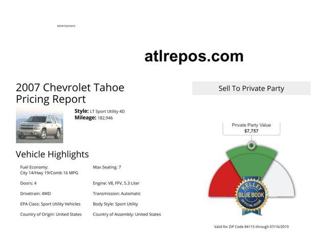 2007 Chevrolet Tahoe LT Salt Lake City, UT