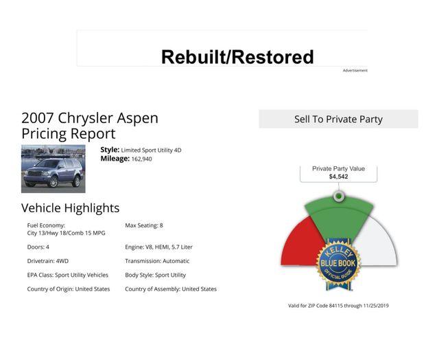 2007 Chrysler Aspen Limited Salt Lake City, UT