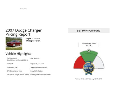 2007 Dodge Charger  in Salt Lake City, UT