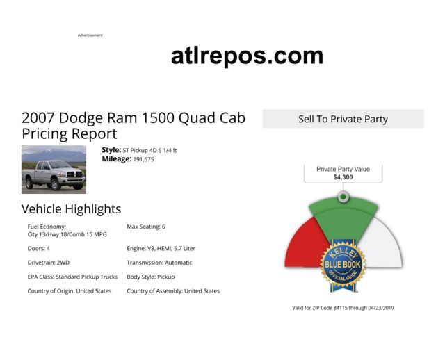2007 Dodge Ram 1500 SLT Salt Lake City, UT