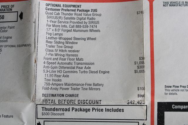 2007 Dodge Ram 2500 SLT Quad Cab Long Bed 4X4 THUNDERROAD - 5.9L! Mooresville , NC 45