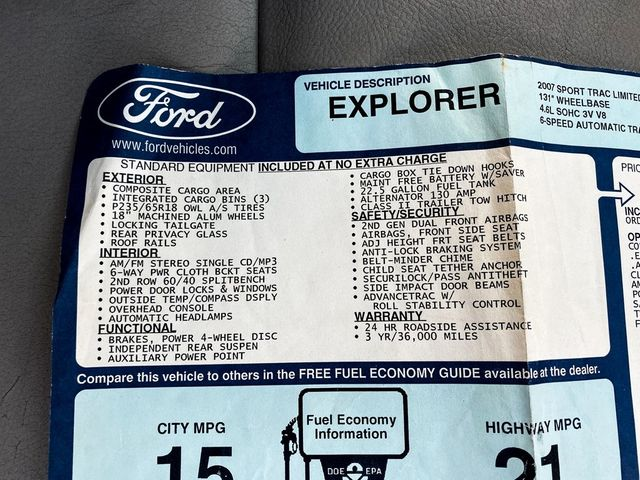 2007 Ford Explorer Sport Trac Limited Madison, NC 35