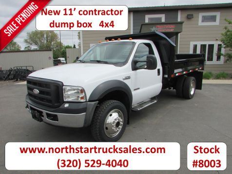 2007 Ford F-550 4x4 Reg Cab 11' Contractor Dump Bed  in St Cloud, MN