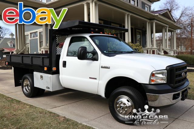 2007 Ford F350 Xl Reg Cab FLATBED STAKE DIESEL 21K MILES 1-OWNER 4X4