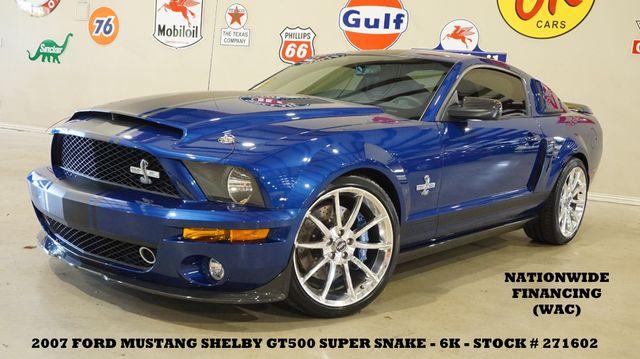 2007 Ford Mustang Shelby GT500 SUPER SNAKE #229 SHAKER 1000,LTH,6K!