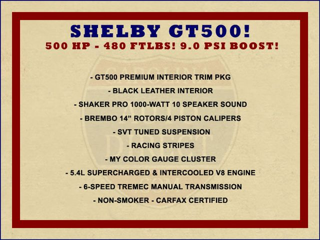 2007 Ford Mustang Shelby GT500 - SUPERCHARGED - SHAKER 1000 SOUND! Mooresville , NC 1