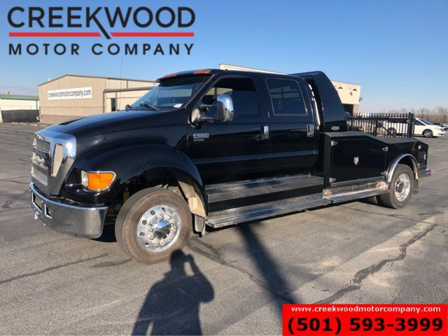 2007 Ford Super Duty F-650 XL Conversion Skirted Flatbed Crew C7 Diesel RARE