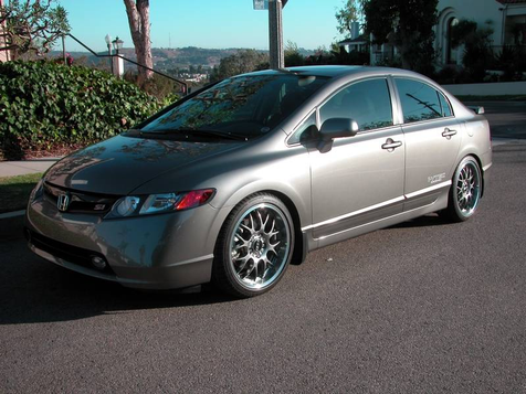 2007 Honda Civic Si Sedan, Navigation, Leather, Only 2300 Miles! Great Mods, As New Condition! in , California