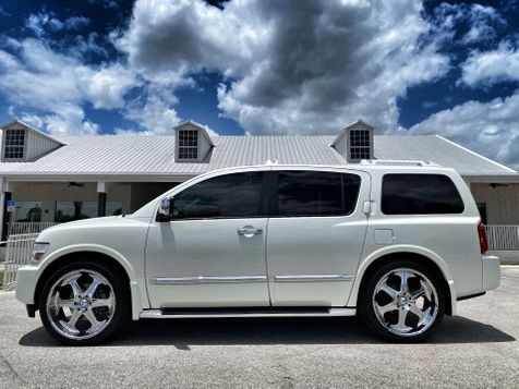 2007 Infiniti QX56 PEARL WHITE REAR ENTERTAINMENT MOONROOF CARFAX in Plant City, Florida