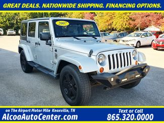 "2007 Jeep Wrangler Unlimited Sahara Hard Top RWD 3.8L V6 6M w/18"" in Louisville, TN 37777"