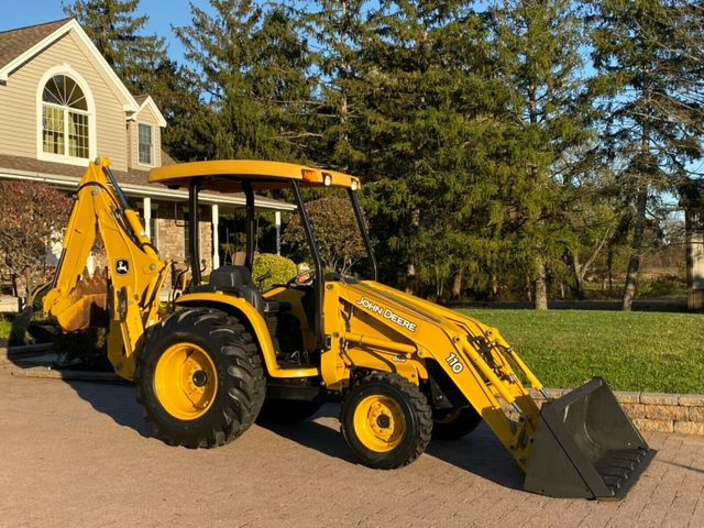 2007 John Deere 110 4x4 BACKHOE ONLY 371 HOURS 1-OWNER RARE TRACTOR