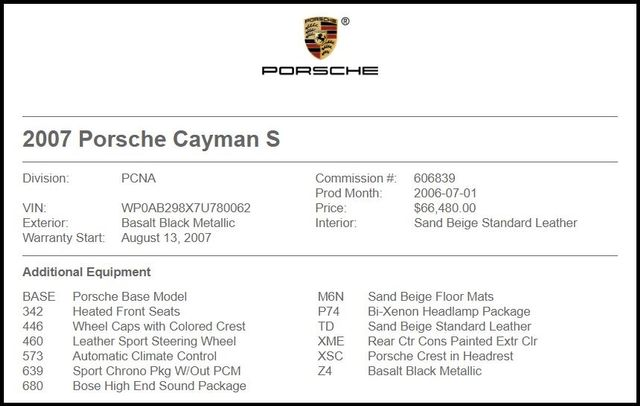 2007 Porsche Cayman in Carrollton TX
