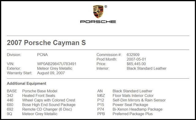 2007 Porsche Cayman in Carrollton TX