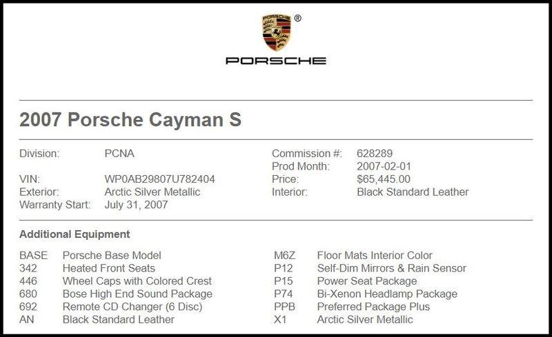 2007 Porsche Cayman S in Carrollton, TX