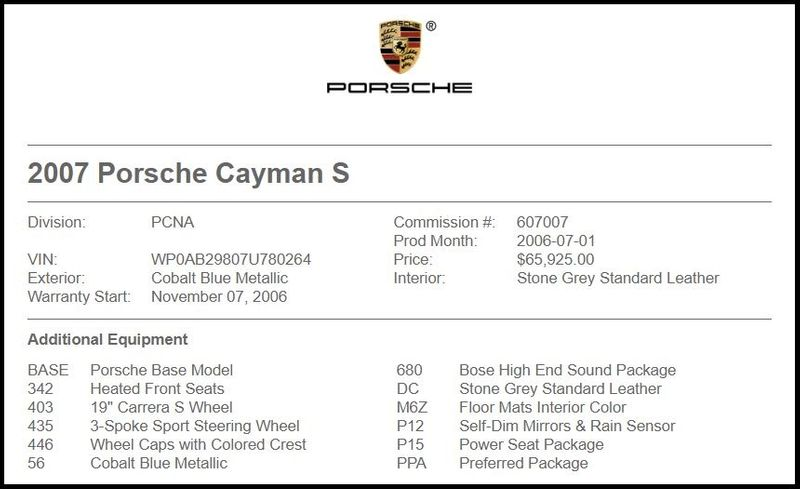 2007 Porsche Cayman S in Carrollton, TX