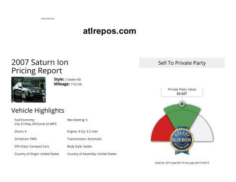 2007 Saturn Ion ION 2 in Salt Lake City, UT