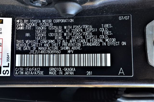2007 Toyota 4Runner SR5 in Reseda, CA, CA 91335