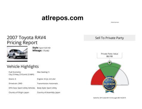 2007 Toyota RAV4 Sport in Salt Lake City, UT