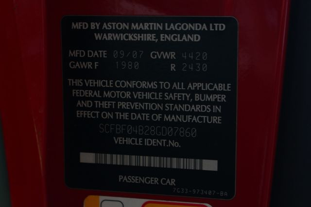2008 Aston Martin Vantage NAVIGATION - HEATED LEATHER - RADAR DETECTOR! Mooresville , NC 42