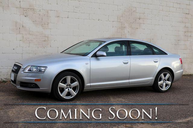 """2008 Audi A6 3.2 Quattro AWD Luxury-Sport Sedan w/Premium Pkg, Heated Seats, Moonroof, BOSE Audio & 18"""" Rims"""