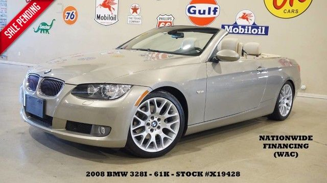 2008 BMW 328i Convertible AUTO,PWR TOP,LEATHER,18IN WHLS,61K,...