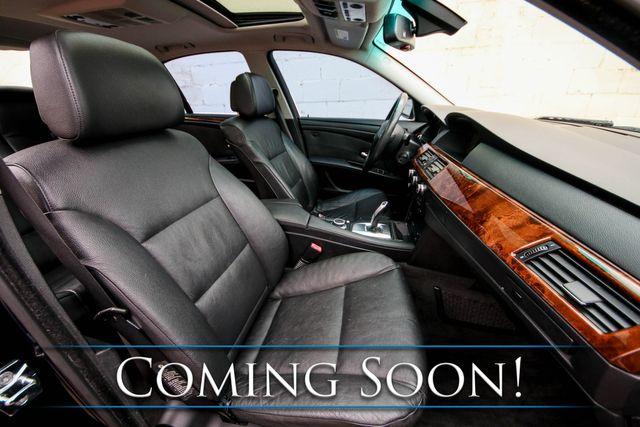 2008 BMW 528xi xDrive AWD w/Nav, Heated Seats/Steering Wheel, Moonroof and Hi-Fi Audio in Eau Claire, Wisconsin 54703
