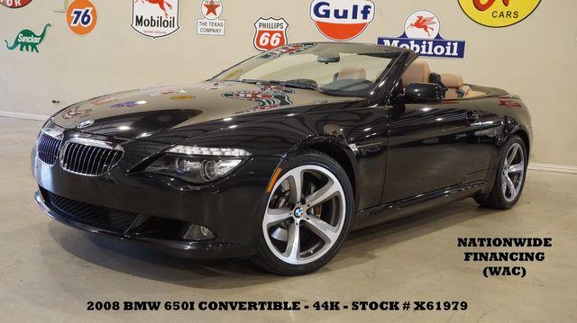 2008 BMW 650i Conv. NAV,PWR TOP,HTD LTH,6 DISK CD,19IN WHLS,44K in Carrollton TX, 75006