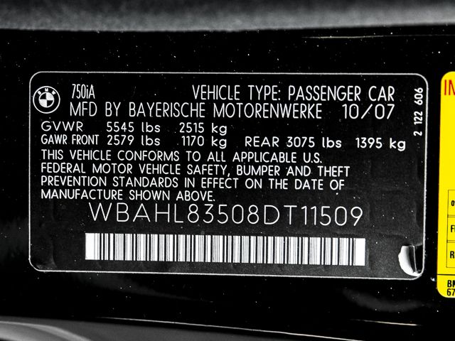 2008 BMW 750i Burbank, CA 19