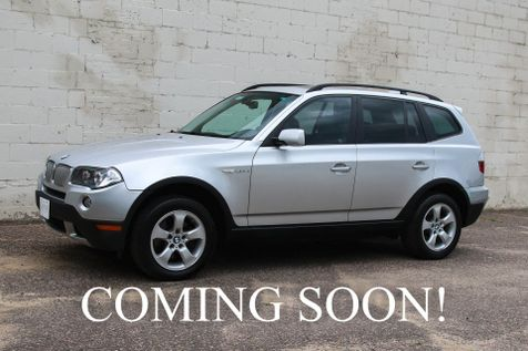 2008 BMW X3 3.0si xDrive AWD Luxury Crossover with Panoramic Roof, 10-Speaker Audio System & Tow Pkg in Eau Claire