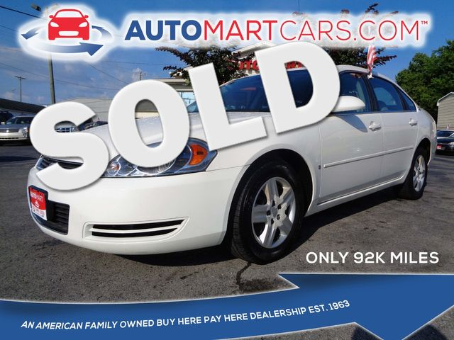 2008 Chevrolet Impala LS | Nashville, Tennessee | Auto Mart Used Cars Inc. in Nashville Tennessee