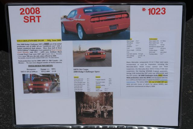2008 Dodge Challenger SRT8  First Edition 1023 of 4137 Phoenix, AZ 37