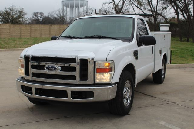 2008 Ford F250 XLT SRW Service Utility Contractor Work Truck W/ Ladder Rack Irving, Texas 3
