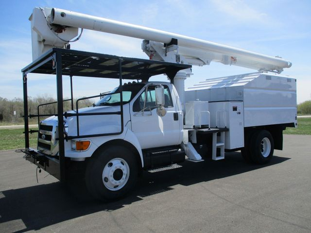 2008 Ford F750 CHIPPER DUMP BUCKET BOOM TRUCK XL Lake In The Hills, IL