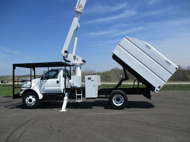 2008 Ford F750 CHIPPER DUMP BUCKET BOOM TRUCK XL Lake In The Hills, IL 33