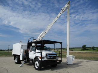 2008 Ford F750 Chipper Dump BOOM Bucket TRUCK 73,858 MILES,DIESEL VERSALIFT 60FT AUTOMATIC Lake In The Hills, IL