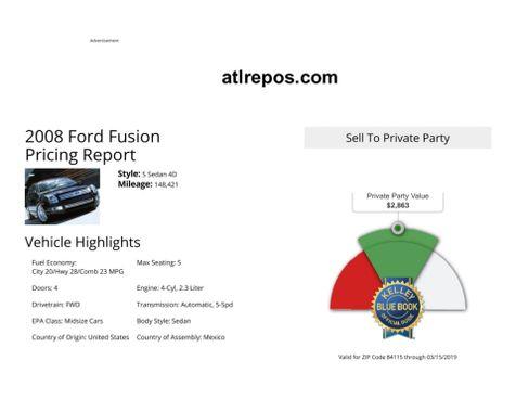 2008 Ford Fusion SEL in Salt Lake City, UT