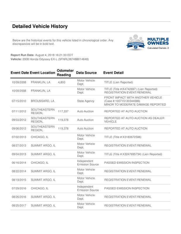2008 Honda Odyssey EX-L  city Illinois  Ardmore Auto Sales  in West Chicago, Illinois