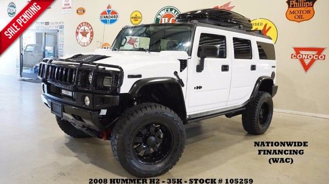 2008 Hummer H2 SUV LIFTED,SUNROOF,NAV,REAR DVD,HTD LTH,BLK WHL...