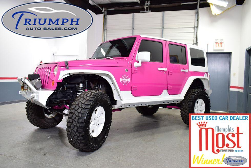 Pink Jeep Wrangler >> 2008 Jeep Wrangler Unlimited Rubicon Memphis Tn Triumph Auto Sales
