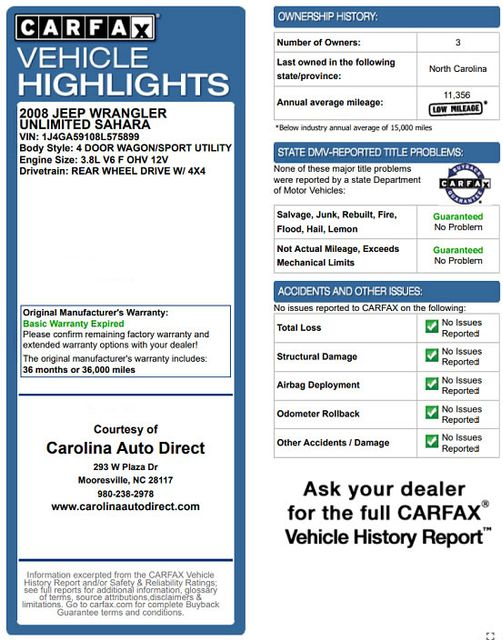 2008 Jeep Wrangler Unlimited Sahara 4x4- LIFTED - EXTRA$ - NAVIGATION Mooresville , NC 3