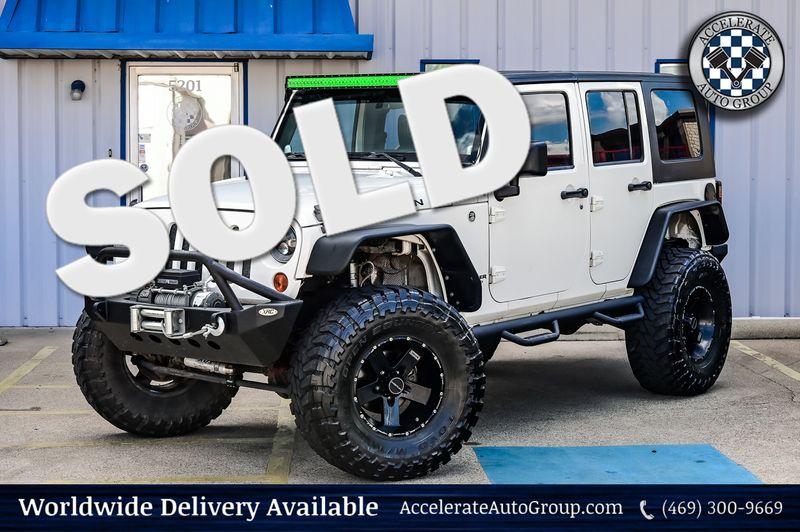 2008 Jeep WRANGLER 3.8L V6 UNLIMITED RUBICON 4X4, WINCH, CLEAN CARFAX in Rowlett Texas