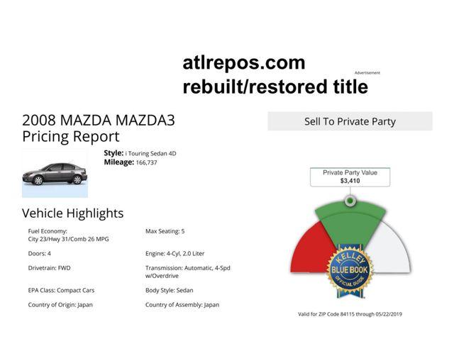2008 Mazda Mazda3 Sport *Ltd Avail* Salt Lake City, UT