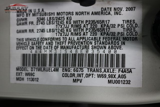 2008 Mitsubishi Endeavor SE Merrillville, Indiana 47