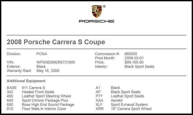 2008 Porsche 911 Carrera S-[ 2 ]