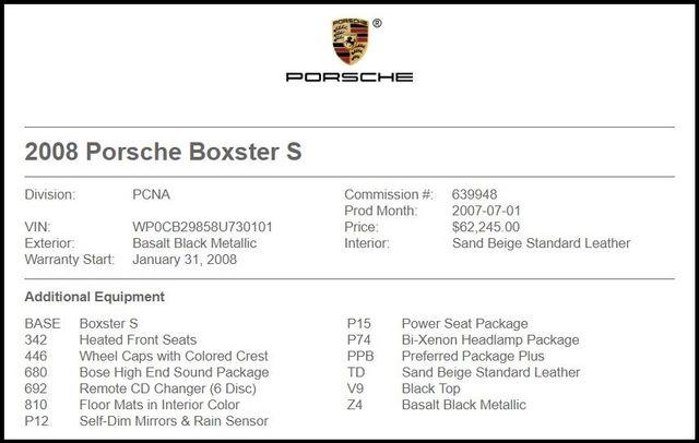 2008 Porsche Boxster in Carrollton TX